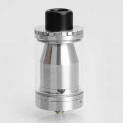 Kindbright Ohmec Style RTA Rebuildable Tank Atomizer - Silver, 316 Stainless Steel, 30mm Diameter, 6ml