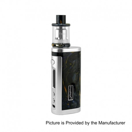 Authentic Freemax Conqueror 80W Resin TC Mod + Firelord Tank Kit - Black + Silver Frame, 1 x 18650, 2ml, 23mm