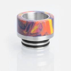 810 Drip Tip for SMOK TFV8 / TFV8 Big Baby / TFV12 Tank - Yellow, Turquoise + Stainless Steel, 14mm