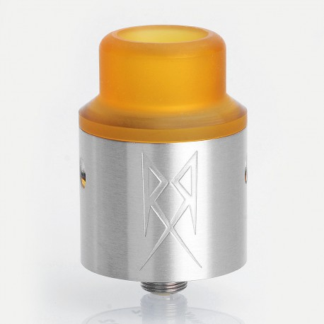 The Recoil V2 Style RDA Rebuildable Dripping Atomizer w/ BF Pin - Silver, Stainless Steel, 24mm Diameter