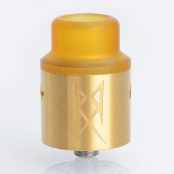 The Recoil V2 Style RDA Rebuildable Dripping Atomizer w/ BF Pin - Gold, Stainless Steel, 24mm Diameter