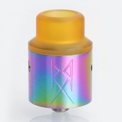 The Recoil V2 Style RDA Rebuildable Dripping Atomizer w/ BF Pin - Rainbow, Stainless Steel, 24mm Diameter
