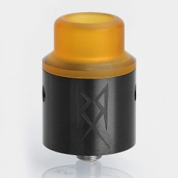 The Recoil V2 Style RDA Rebuildable Dripping Atomizer w/ BF Pin - Black, Stainless Steel, 24mm Diameter
