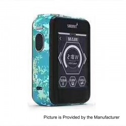 Authentic Smoant Charon TS 218 Touch Screen TC VW Variable Wattage Box Mod - Sky Blue Digi Camo, 1~218W, 2 x 18650