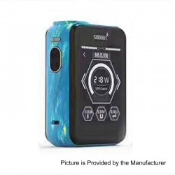 Authentic Smoant Charon TS 218 Touch Screen TC VW Variable Wattage Box Mod - Painting Blue, 1~218W, 2 x 18650
