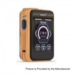 Authentic Smoant Charon TS 218 Touch Screen TC VW Variable Wattage Box Mod - Wood Grain, 1~218W, 2 x 18650