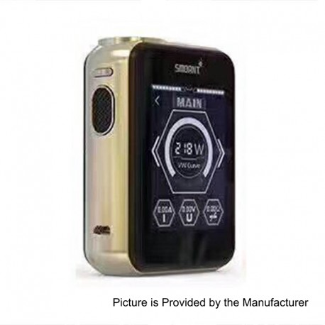 Authentic Smoant Charon TS 218 Touch Screen TC VW Variable Wattage Box Mod - Champagne, 1~218W, 2 x 18650
