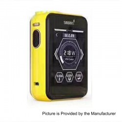 Authentic Smoant Charon TS 218 Touch Screen TC VW Variable Wattage Box Mod - Yellow, 1~218W, 2 x 18650