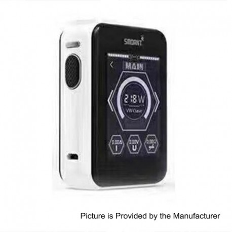 Authentic Smoant Charon TS 218 Touch Screen TC VW Variable Wattage Box Mod - White, 1~218W, 2 x 18650