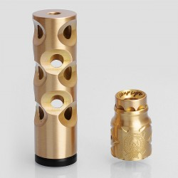 The Swiss Style Hybrid Mechanical Mod + Battle Style RDA Kit - Brass, Brass + Stainless Steel, 1 x 18650, 24mm Diameter