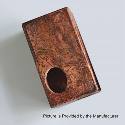Authentic Yiloong Bottom Feeder Squonk Mechanical Box Mod - Random Color, Stabilized Wood, 1 x 18650 / 20700
