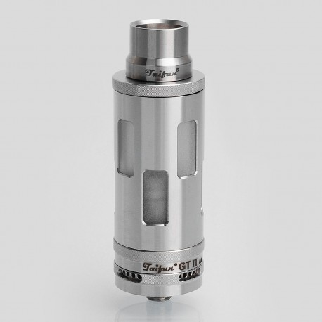 Coppervape Taifun GT II Air RTA Rebuildable Tank Atomizer - Silver, 316 Stainless Steel, 5ml, 23mm Diameter