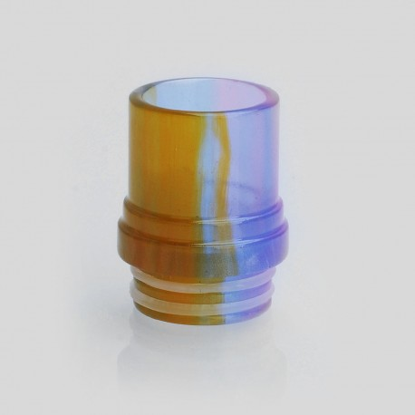 810 Translucent Drip Tip for TFV8 Sub Ohm Tank - Yellow, Epoxy Resin, 20mm