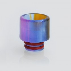 510 Translucent Drip Tip for TFV8 Baby Sub Ohm Tank - Blue, Epoxy Resin, 15.4mm