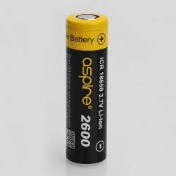Authentic Aspire 3.7V 40A 2600mAh 18650 High Drain Rechargeable Battery - Black