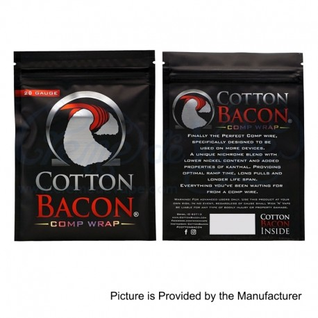 Authentic Wick 'N' Vape Cotton Bacon Comp Wrap Heating Wires - Nichrome + Nickel + Kanthal, 20GA, 5m (15 Feet)