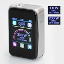 Authentic Joyetech Cuboid Pro 200W TC VW Varible Wattage Box Mod - Silver, 1~200W, 2 x 18650