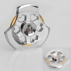 Authentic Magic Shark Time Machine Hand Spinner Anti-Anxiety Fidget Toy EDC - Silver, Stainless Steel, R188 Bearing