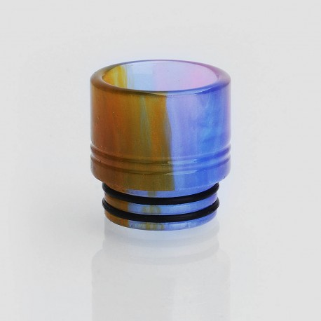 810 Wide Bore Drip Tip for TFV8 / TFV12 Tank / Goon / Kennedy / Mad Dog RDA - Blue, Epoxy Resin, 16mm