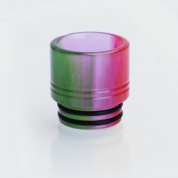 810 Wide Bore Drip Tip for TFV8 / TFV12 Tank / Goon / Kennedy / Mad Dog RDA - Red + Purple, Epoxy Resin, 16mm