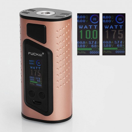 Authentic Sigelei Duo-3 2-Cover Version 255W TC VW Variable Wattage Box Mod - Gold, 10~255W, 2 / 3 x 18650