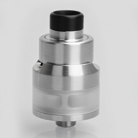 YFTK NextEra Style RTA Rebuildable Dripping Atomizer w/ BF Pin - Silver, Stainless Steel, 2ml, 22mm Diameter