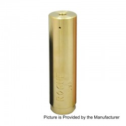 Rogue Style Hybrid Mechanical Mod - Gold, Brass, 1 x 18650 / 20700