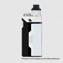 Authentic IJOY RDTA Box Triple 240W TC VW Variable Wattage Box Mod + RDA Kit - White, 5~240W, 12.8ml, 3 x 18650