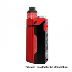 Authentic IJOY RDTA Box Triple 240W TC VW Variable Wattage Box Mod + RDA Kit - Red, 5~240W, 12.8ml, 3 x 18650