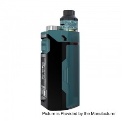 Authentic IJOY RDTA Box Triple 240W TC VW Variable Wattage Box Mod + RDA Kit - Teal, 5~240W, 12.8ml, 3 x 18650