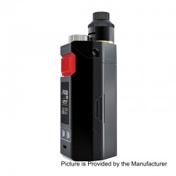 Authentic IJOY RDTA Box Triple 240W TC VW Variable Wattage Box Mod + RDA Kit - Black, 5~240W, 12.8ml, 3 x 18650