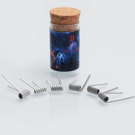 Authentic Demon Killer Flame Coil N80 D Pre-built Heating Wire for DIY - 0.12 Ohm, 26GA x 3 + 38GA (6 PCS)