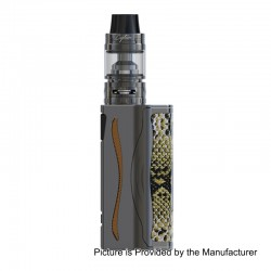 Authentic IJOY Genie PD270 234W TC 3000mAh VW Mod w/ Battery + Captain S Tank Kit - Gun Metal, 2 x 18650 / 20700, 4ml, 25mm