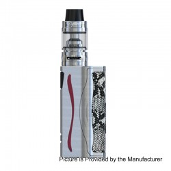 Authentic IJOY Genie PD270 234W TC 3000mAh VW Mod w/ Battery + Captain S Tank Kit - Silver, 2 x 18650 / 20700, 4ml, 25mm