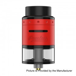 Authentic GeekVape Peerless RDTA Rebuildable Dripping Tank Atomizer - Red, Stainless Steel, 2ml, 24mm Diameter, EU / TPD