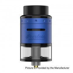 Authentic GeekVape Peerless RDTA Rebuildable Dripping Tank Atomizer - Blue, Stainless Steel, 2ml, 24mm Diameter, EU / TPD