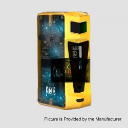 Authentic Sigelei Kaos Z 200W TC VW Variable Wattage Box Mod - Yellow, Zinc Alloy, 10~200W, 2 x 18650