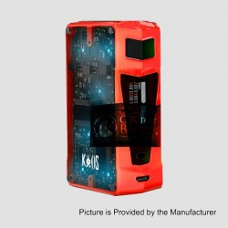 Authentic Sigelei Kaos Z 200W TC VW Variable Wattage Box Mod - Red, Zinc Alloy, 10~200W, 2 x 18650