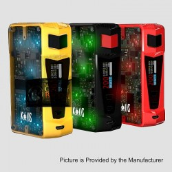 Authentic Sigelei Kaos Z 200W TC VW Variable Wattage Box Mod - Black, Zinc Alloy, 10~200W, 2 x 18650