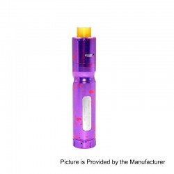 Authentic Centsu Vape Hanglee Hybrid Mechanical Mod + Hanglee RDA Kit - Spotted Purple, Aluminum, 1 x 18650, 25mm Diameter