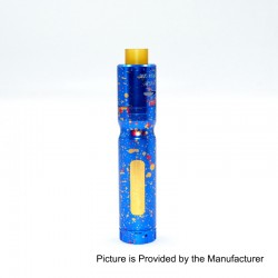 Authentic Centsu Vape Hanglee Hybrid Mechanical Mod + Hanglee RDA Kit - Spotted Blue, Aluminum, 1 x 18650, 25mm Diameter