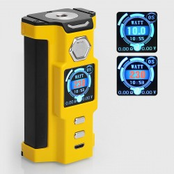 Authentic Sigelei Snowwolf Vfeng 230W VW Variable Wattage Box Mod - Yellow, 10~230W, 2 x 18650