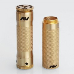 M1P5 V2 Stacked Style Extended Hybrid Mechanical Mod - Brass, Brass, 2 x 18650