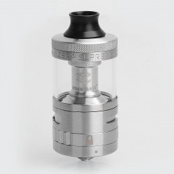 Authentic Steam Crave Aromamizer Supreme V2 RDTA Rebuildable Dripping Tank Atomizer - Silver, 5ml, 25mm Diameter