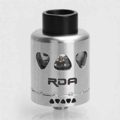 Authentic Yosta Igvi RDA Rebuildable Dripping Atomizer - Silver, Stainless Steel, 25mm Diameter