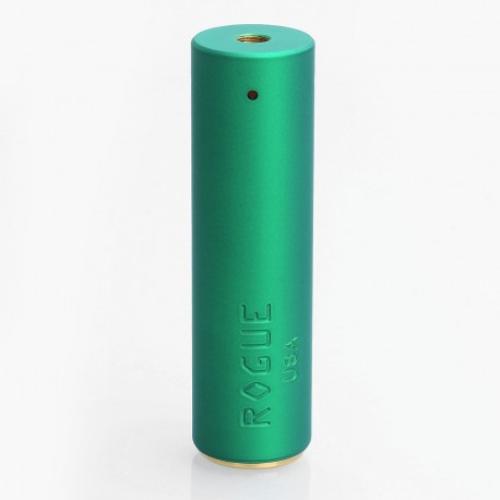 Rogue Style Mechanical Tube Mod - Green, Brass, 1 x 18650