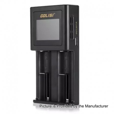 Authentic GOLISI S2 1A Quick Charge Intelligent Battery Charger - Black, 2 x Battery Slots, US Plug