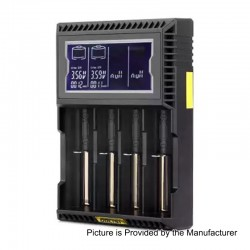 Authentic GOLISI L4 2A Quick Charge Intelligent Battery Charger - Black, 4 x Battery Slots, US Plug