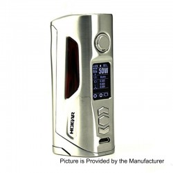 Authentic Hcigar VT75D 75W TC VW Variable Wattage Box Mod - Silver, 1~75W, 1 / 2 x 18650, Evolv DNA 75 Color Chip