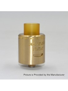 Authentic Centsu Vape Hanglee RDA Rebuildable Dripping Atomizer - Gold, Brass, 25mm Diameter